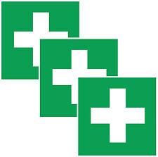 3x Aufkleber ERSTE HILFE Schild Hinweis Warnaufkleber Medizin Verbandskasten