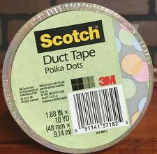 Scotch Duct Tape 1.88 X 10 Yards Polka Dots (910-BBP-C) New Stock 494