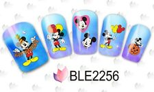 Nail Art Water Decals Stickers Transfers Mickey Mouse Halloween Pumpkins (2256)