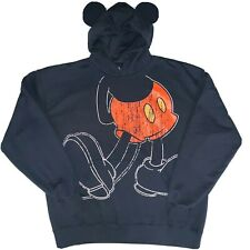 Mens Disney Parks Mickey Mouse Hoodie With Ears Black Size 2XL XXLarge Full body