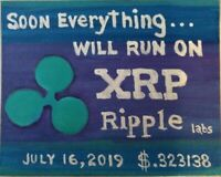 """Painting """"RUN ON XRP"""", OIL ON CANVAS BOARD by Guy Foster 8""""x10"""""""