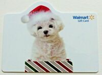 Walmart Gift Card - Die-Cut DOG - Christmas - Older / No Value - I Combine Ship