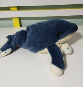 "Wild Republic Cuddlekins 12"" Humpback Whale Plush Toy 2012 K&M 33cm ZOMBIE"