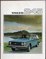 Volvo 245 Estate 1975-76 UK Market Sales Brochure 240-Series DL DLE