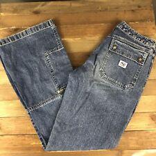 Silver Women's Boot Cut Mom Jeans Size 29x33 High Waist Flap Pocket Medium Wash