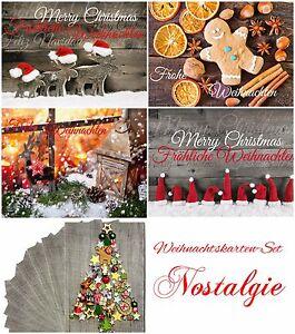 """Nostalgisches Weihnachtskarten-Set """"NOSTALGIE II""""- 50 100 150 200 300 400 500 St"""