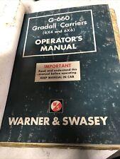 Warner And Swasey Gradall G 660 Operators Service Parts Manual Crawler Manual
