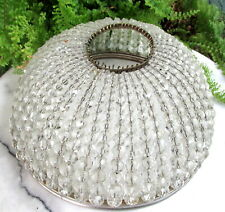SPARKLING ANTIQUE CZECH CRYSTAL BEAD LAMP / LIGHT SHADE COVER