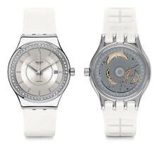 Swatch Sistem Snow Automatic Watch yis406 Analogue Silicone White