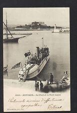 ANTIBES (06) VOILIER , BATEAU MILITAIRE Américain & CANOT au FORT en 1902