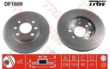 TRW Juego de 2 discos freno Antes 236mm ventilado OPEL ASTRA CORSA VECTRA DF1609