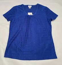 Women's Jaclyn Smith Casual Smocked Short Sleeve Top: S-M-L-XL-XXL