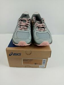 Asics Frequent Trail Hiking Running Shoes Gray Pink Womens Size 8.5 Wide
