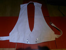Vtg 1920s White Marcella Double Breasted  Waistcoat sz 32-34""