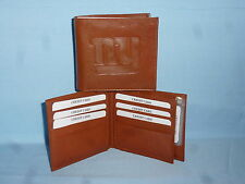New York NY GIANTS   Leather BiFold Wallet    NEW    brown 4 +