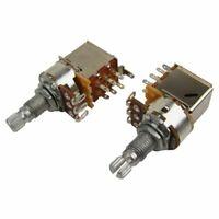 1X(A500k Push Pull Split Knurled 18MM Long Shaft Audio Taper Guitar Switch  3A5)