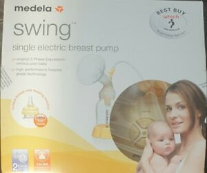Medela Swing Single Electric Breast Pump & Extra Parts  & New Calma Teat in vgc