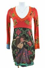 DESIGUAL Womens Sundress Size 10 Small Multi Cotton  FL06