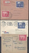 GERMANY US 1947 SIX COMMERCIAL COVER TWO REGISTRED FRANKED LEIPZIGER MESSE ISSUE
