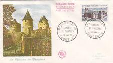 Enveloppe FDC 1erJour  Chateau FOUGERES   oblitérée 16 JANV 60  Fougère