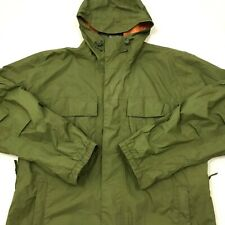 Burton Mens Ronin Ski Snowboard Jacket Shell Hooded Army Green Size Large