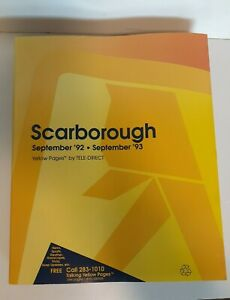 Bell Canada Yellow Pages '92-'93 SCARBOROUGH ON Canada Never used collectors