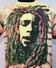 VTG Bob Marley T Shirt Reggae Promo Jamaica Tee Tour Concert Rap XL 90s Rasta