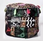 "Handmade 18"" XL Round Ottoman~Pouf~Stool~Chair Tapestry Pouffe Seat Indian Pouf"