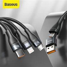Baseus 100W 3 In 1 Schnell Ladekabel USB C für Lighting Type-C Micro Kabel