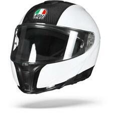 AGV Sportmodular Carbon White Flip Up Motorcycle Helmet - Free Shipping