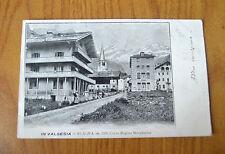 CARTOLINA VERCELLI VALSESIA ALAGNA CORSO REGINA RARA VIAGGIATA 1904 SUBALPINA ZZ