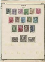 austria early stamps  on album page ref r11456