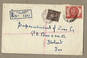 Australia 1946 Hobart Tasmania Registered Cover