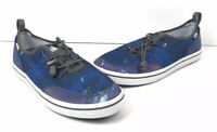HUK Mania Performance Fishing Boat Shoes Mens Sz 9 Blue Ocean Theme H8013300 NEW