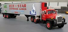 1/64 VINTAGE B-MODEL MACK RED STAR AND TRAILER DIECAST MADE BY FIRST GEAR IN BOX