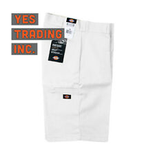 "WHITE Dickies Men's 13"" Multi-Pocket Pocket Loose Fit Work Shorts Style # 42283"