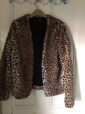 Next Size 12 Leopardprint Jacket Fake Fur