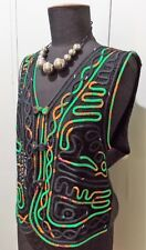 *Immaculate Size L Jasmine Li Black & Green Silk Women's Top- 51cm Bust