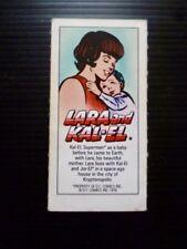 "WEETABIX CARDS. ""SUPERMAN"" 1978 1 CARD FROM 18. LARA AND KAL-EL"