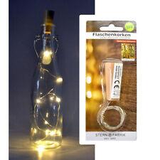 LED Flaschenlicht Weinflasche Korken Lichterkette Batterie teilweise Timer Deko