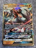 Lycanroc GX Full Art Holo Rare Guardians Rising Pokemon Card NM 74/145