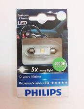1X Philips X-Treme Vision LED 129454000KX1 Festoon 43mm 4000K 12V Blanco Simple