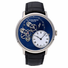 Arnold & Son DSTB White Gold Auto 43.5mm Blue Dial Mens Watch 1ATAW.L04A.C121W