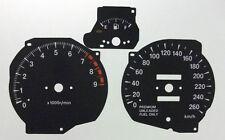 Lockwood Mitsubishi GTO KMH BLACK Dial Conversion Kit C620