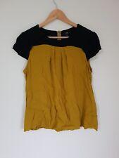 Cue Black & Mustard Blouse Size 12