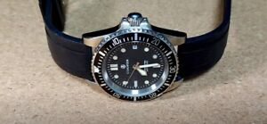 Cooper Submaster Automatic SM8017 200m divers watch on black rubber strap