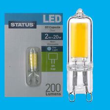 1x 2W G9 Capsule LED 200 lumen, Instant On Light Bulb Halogen Replacement 6500K