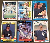 Ron Guidry 6-CARD LOT including 1982 Topps, 1984 Topps & 1987 Fleer