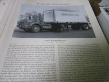Nutzfahrzeug Archiv 2 Entwicklung 2445 Kippfahrerhaus White 3000 1943