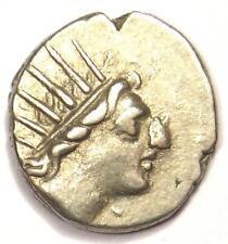 Carian Islands Rhodes AR Drachm Coin 84-88 BC - VF Condition - Rare Coin!